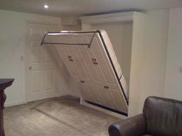 wall bed halfway open